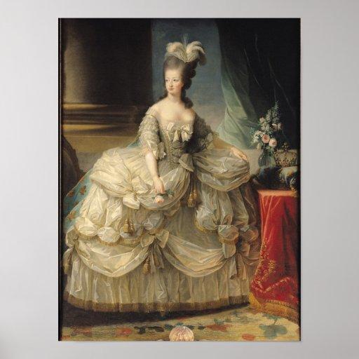 Marie antoinette koningin van frankrijk 1779 poster zazzle - Stijl van marie antoinette ...