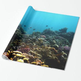 Marien Milieu in de Stille Oceaan Inpakpapier