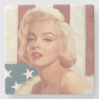 Marilyn Flag Stenen Onderzetter