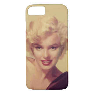 Marilyn in Zwarte iPhone 7 Hoesje