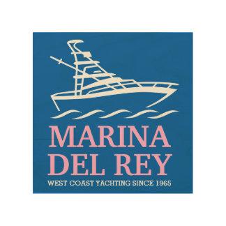 Marina Del Rey Houten Canvas Print