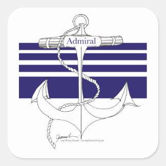marine admiraal, tony fernandes vierkante sticker