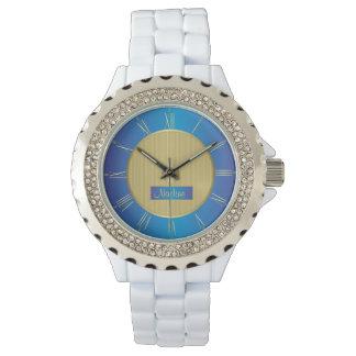 Marine, blauw en goud horloges