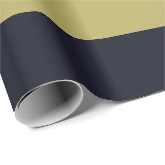 Marine en Gouden horizontaal-Gestreept Verpakkend Inpakpapier