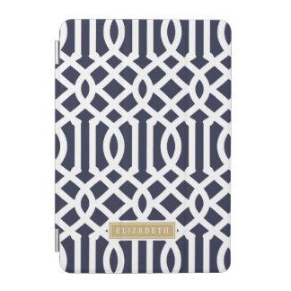 Marine en het Gouden Monogram van de Douane van iPad Mini Cover