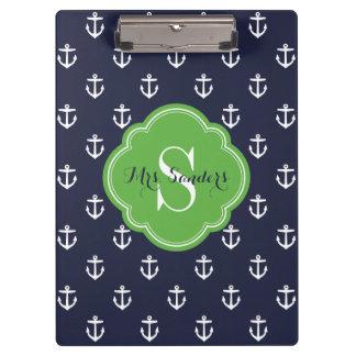 Marine en het Groene Monogram van de Douane van Klembord