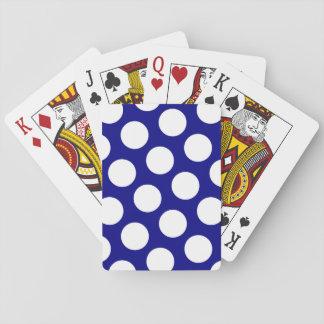Marine en Witte Stippen Pokerkaarten