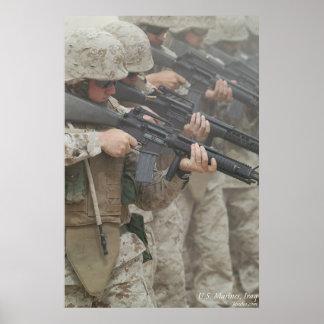 Marine in Irak Poster