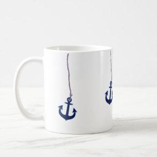 marineblauw anker koffiemok