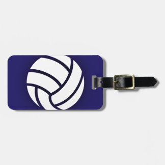 Marineblauw volleyball kofferlabels