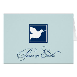 Marineblauwe duifvrede op van de bedrijfs notitiekaart
