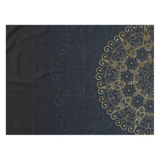 Marineblauwe Gouden Elegante Mandala Tafelkleed