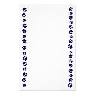 Marineblauwe Kantoorbehoeften Pawprint Briefpapier