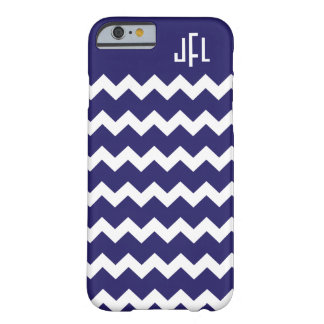 Marineblauwe & Witte iPhone Met monogram 6 cas van Barely There iPhone 6 Hoesje