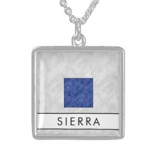 Maritieme Vlag van het Signaal van de waterverf de Sterling Zilver Ketting