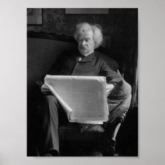 Mark Twain - Amerikaanse Auteur en Humorist Poster