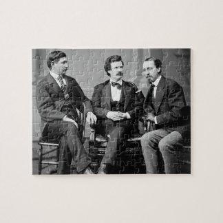 Mark Twain, George Alfred Townsend, en David Gray Legpuzzel