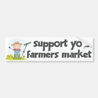 Markt 1 van de Landbouwers van de steun Bumpersticker