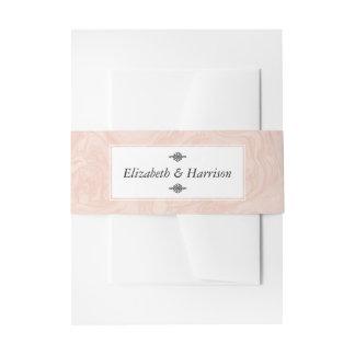 Marmer nam Elegant Vintage Huwelijk toe Uitnodigingen Wikkel