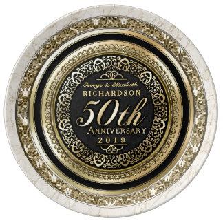 Marmer van Faux van het Jubileum van de gouden Bord Van Porselein