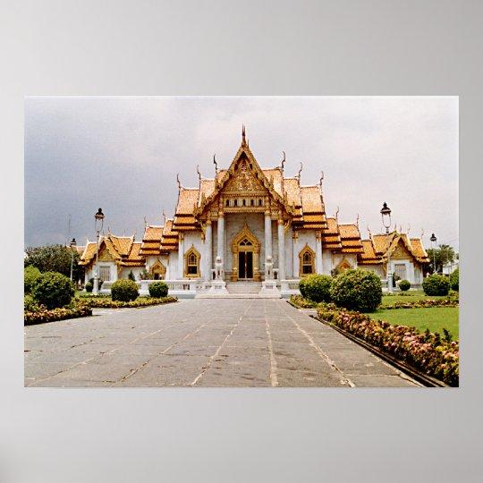 Marmeren Tempel van Goud over het Khmer Poster van