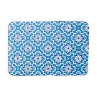 Marokkaans tegelpatroon - Blauw en Wit Badmat