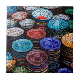 Marokkaanse Borden bij Markt Keramisch Tegeltje