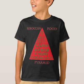 Marokkaanse Dark van de Piramide van het Voedsel Tshirt