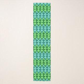 Marokkaanse Groen Damast Ikat, Turkoois & Jade Sjaal