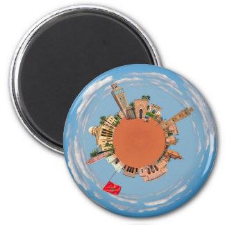 Marrakech weinig lan van het de reistoerisme van ronde magneet 5,7 cm