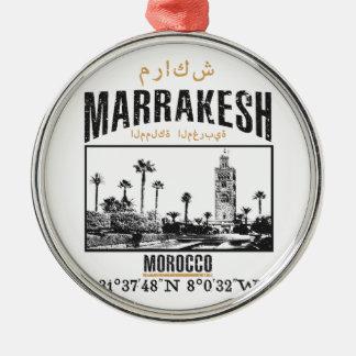 Marrakech Zilverkleurig Rond Ornament