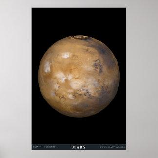 Mars met de Dekking van de Wolk Poster
