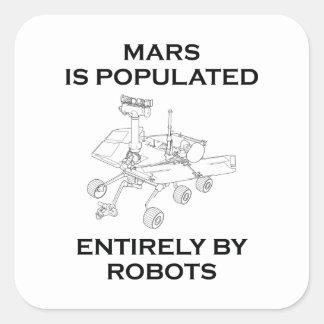 Mars wordt bevolkt volledig door Robots Vierkante Sticker