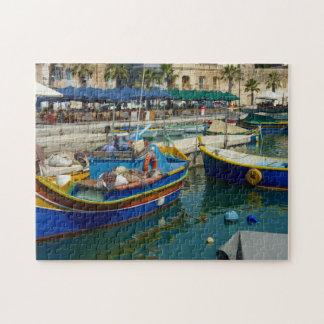 Marsaxlokk geschilderde boten foto puzzels