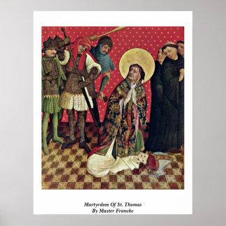 Martelaarschap van St. Thomas door HoofdFrancke Poster