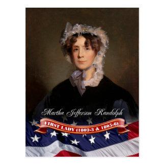 Martha Jefferson Randolph, Presidentsvrouw van de Briefkaart