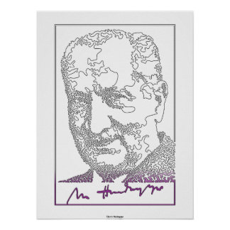 Martin Heidegger. Duitse filosoof [013] Poster