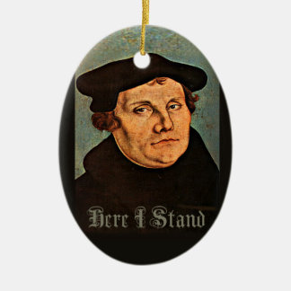 Martin Luther Here I Stand Keramisch Ovaal Ornament