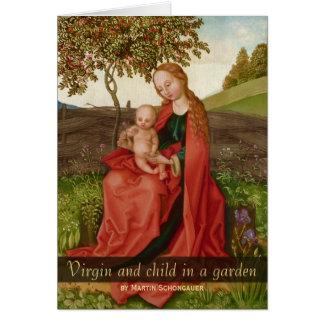 Martin Schongauer CC0940 Virgin en kindtuin Briefkaarten 0