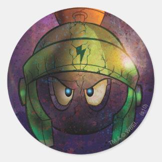 MARVIN de Vaste vorm gegeven Slag MARTIAN™ Ronde Sticker
