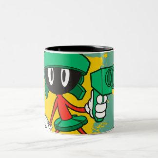 Marvin met Pistool Tweekleurige Koffiemok