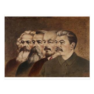 Marx, Engels, Lenin, en Stalin Briefkaart