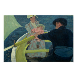 Mary Cassatt - de Partij van het Roeien Poster