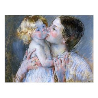 Mary Cassatt: Een kus voor Baby Anne (nr 3) Briefkaart