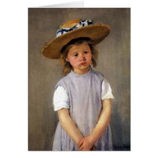 """Mary Cassatt """"Kind in een Pet van het Stro """" Wenskaart"""