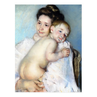 Mary Cassatt- Mother Berthe Holding Haar Baby Briefkaart