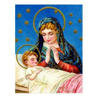 Mary en een Baby Jesus van de Slaap Briefkaart