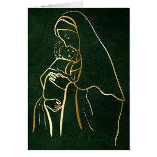 Mary en Jesus bij Kerstmis Briefkaarten 0