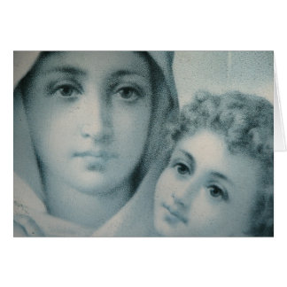 Mary en Jesus Christmas Briefkaarten 0