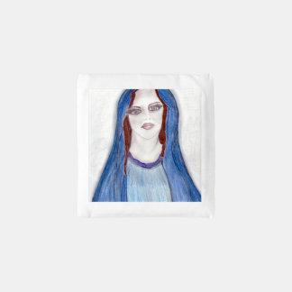 Mary in Blauw Herbruikbare Tas